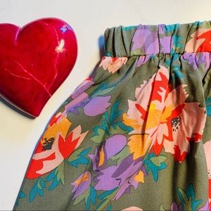 Old Navy Summer Floral Skirt Orange Pink Purple M